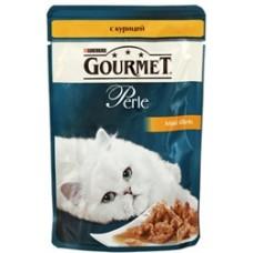 Gourmet Perl для кошек кусочки курицы в подливке в/у , 85г (05230)