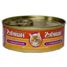 Четвероногий Гурман консервы для кошек мясное ассорти с говядиной, 100гр. (c11920)