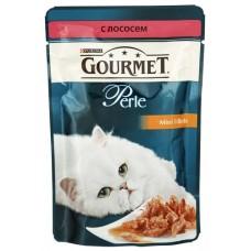 Gourmet Perl для кошек кусочки лосося в подливке в/у, 85г (05231)