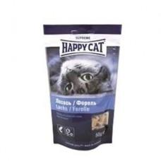 Хэппи Кэт угощение для кошек лосось/форель, 50гр. (37534)