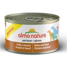 Almo Nature Консервы для Собак с Курицей и Говядиной (Classic Chicken and Beef)