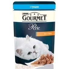 Gourmet Perl для кошек кусочки тунца в подливке в/у, 85г  (05148)