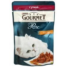 Gourmet Perl для кошек кусочки утки в подливке в/у, 85г  (05233)