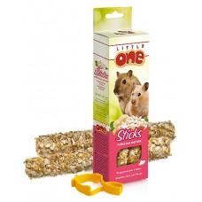 Little One Палочки для хомяков, крыс, мышей и песчанок с воздушным рисом и орехами 110 гр (39015)