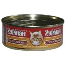 Четвероногий Гурман консервы для кошек мясное ассорти с потрошками, 100гр. (c11921)