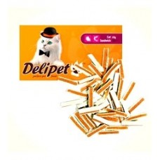 DeliPet для кошек сэндвич с курицей и минтаем 50 гр (4814)