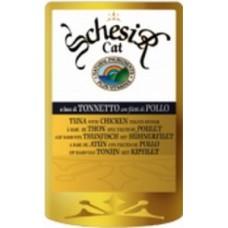Schesir вакуумная упаковка для кошек тунец/цыпленок 100 гр. (05536)
