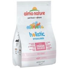 Almo Nature Holistic Adult Sterilised для кастрированных кошек с лососем и рисом