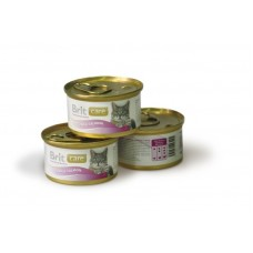Brit Care Tuna & Salmon Консервы для кошек Тунец и лосось, 80гр. (05121)
