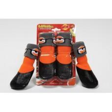 Барбоски Носки для собак с латексным покрытием, на завязках. Цвет оранжевый