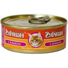 Четвероногий Гурман консервы для котят мясное ассорти с языком, 100гр. (05945)