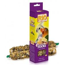 RIO. Палочки для средних попугаев с медом и орехами, 2шт*75г. (39027)