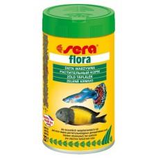 Сера 0640 Flora Корм для растительноядных рыб со спирулиной, хлопья 100мл (15990)