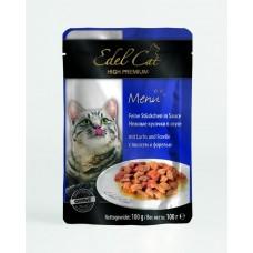 Эдель Кэт (Edel Cat) Консервы для кошек, Форель и лосось в желе 100гр. (05357)