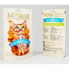 Молина Лакомство для кошек Куриный сэндвич, 80г (70597)