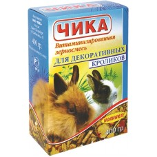 Чика Корм для декоративных кроликов витаминизованная зерносмесь 400гр. (15298)
