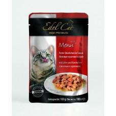 Эдель Кэт (Edel Cat) Консервы для кошек, Печень и кролик в желе 100гр. (05835)