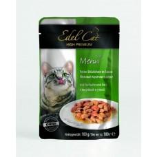 Эдель Кэт (Edel Cat) Консервы для кошек, Утка и индейка в соусе 100гр. (05836)