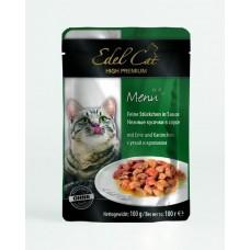 Эдель Кэт (Edel Cat) Консервы для кошек, Утка и кролик в соусе 100гр. (05374)