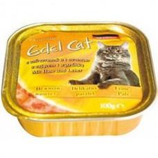 Эдель Кэт (Edel Cat) Консервы для кошек, паштет с Зайчатиной и печенью