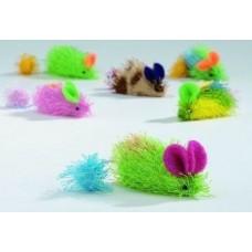 """Beeztees Игрушка для кошек """"Мышь"""" разноцветная, в ассорт. 6,5см. (419976)"""