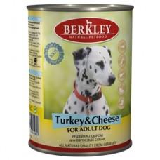 Беркли консервы для собак Индейка с сыром 400гр. (75071/P12199)