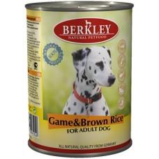 Беркли консервы для собак Оленина с коричневым рисом 400гр. (75073/P12200)