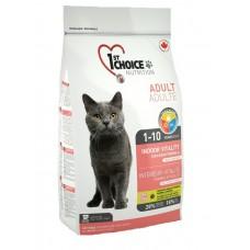 1st Choice INDOOR VITALITY для домашних кошек с цыпленком