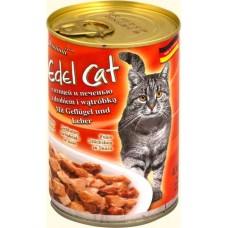 Эдель Кэт (Edel Cat) Консервы для кошек, птица и печень