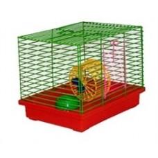 Zoo Mark Клетка для джунгариков малая с колесом и миской, 24*19*20. (511)