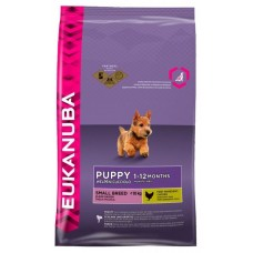 Eukanuba Корм для щенков малых пород с курицей и рисом (Puppy & Junior Small breed)
