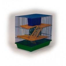 Zoo Mark Клетка для грызунов 3-х этажная, 36*24*38см. (130)
