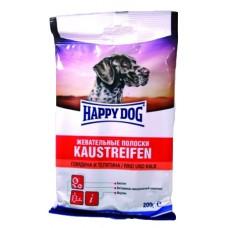 Хэппи Дог лакомство для собак жевательные полоски говядина телятина, 200гр. (89595)
