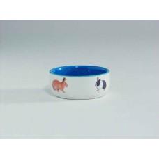 Beeztees Миска керамическая с изображением кролика, 300мл*11,5см