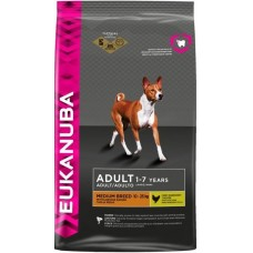 Eukanuba Корм для взрослых собак средних пород с курицей и рисом (Adult Medium Breed)