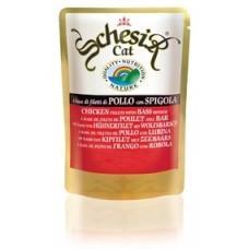 SCHESIR Паучи для кошек с цыпленком и окунем, 100гр (05560)