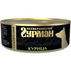 Четвероногий Гурман GOLDEN LINE консервы для собак курица натуральная в желе, 340гр (C29776)