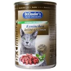 Dr. Clauder's консервы для кошек кролик 415 гр. (11443)