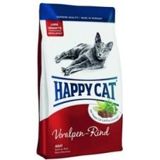 Хэппи Кэт корм для взрослых кошек альпийская говядина