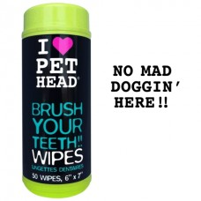 """Pet Head Салфетки для собак """"Голливудская улыбка"""" для чистки зубов и от неприятного дыхания, без сульфатов и парабенов, 50 шт.(BRUSH YOUR TEETH!!) (50446)"""