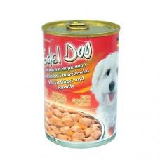 Edel Dog Консервы для собак нежные кусочки в соусе с птицей и морковью
