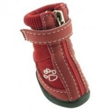 """Обувь красная """"Лапа"""" для собак"""