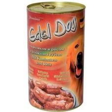 Edel Dog Консервы для собак нежные кусочки в соусе с кроликом и рисом, 1.2кг.
