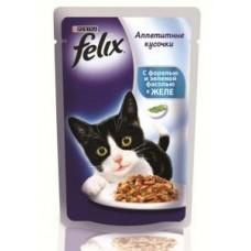 Felix с форелью и зелёной фасолью в желе вакуумная упаковка, 85гр. (05105)