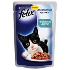 Felix с форелью в желе вакуумная упаковка, 85гр. (05202)