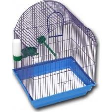 Зоомарк Клетка для птиц полукруглая укомплектованная