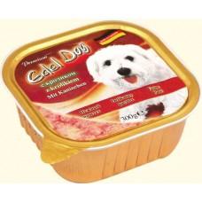 Edel Dog Консервы для собак Нежный паштет с кроликом, 0.3кг. (10179)