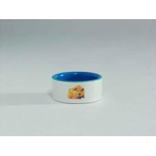 Beeztees Миска керамическая с изображением хомяка, 120мл*7,5см