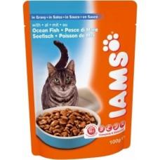 Ямс Паучи для кошек с океанической рыбой (Cat Pouch with Ocean Fish), 100гр. (05806)