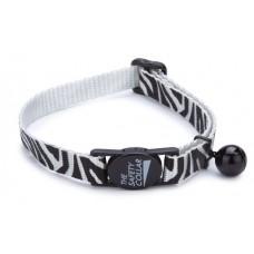 Beeztees Ошейник для кошек Зебра черно-белый 23-27,5см*10мм (730101)